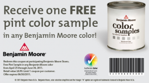 photo about Benjamin Moore Printable Coupon called Benjamin Moore Discount codes: Totally free Pint of Arborcoat Stain or Paint