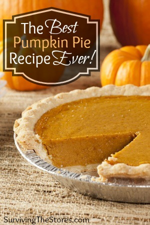 My Favorite Homemade Pumpkin Pie Recipe!