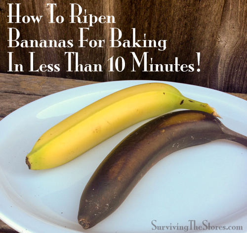 How To Ripen Bananas For Baking In Less Than 10 Minutes!