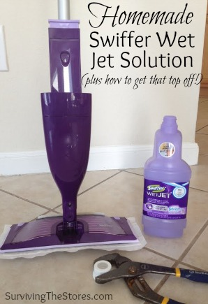 How to make your own Swiffer Wet Jet solution!