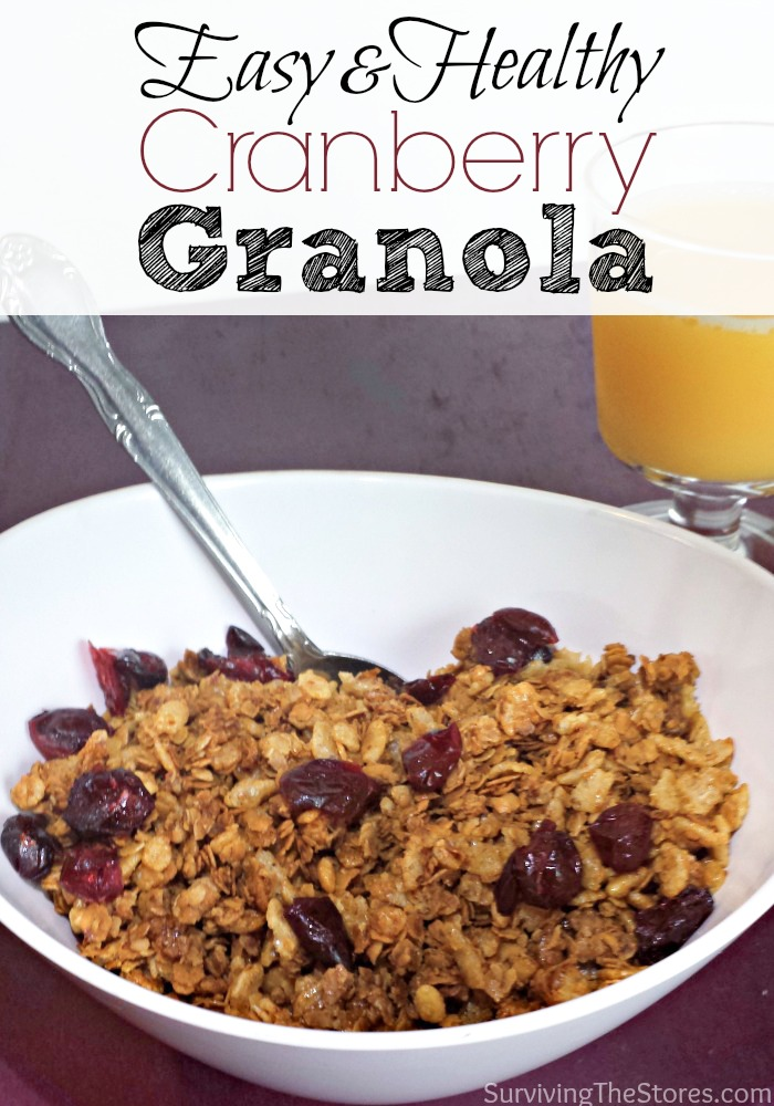 How to make homemade granola cereal! You know exactly what is in it and it is SO much less expensive than buying it from the store. There are options here for gluten-free and regular granola!