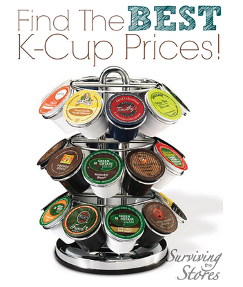 Find the BEST prices on k-cups online! There are deals here for just about every brand, flavor, and type of coffee available. This week K-cups are as low as 26¢ per cup and 37¢ per cup for organic and fair trade!!