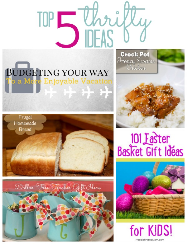 Top 5 Thrifty Ideas From Follow Our Thrift Blogger Link-up!!
