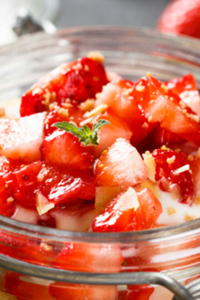 Gluten-Free Strawberry Cheesecake Recipe in a Jar! Low Carb & THM!