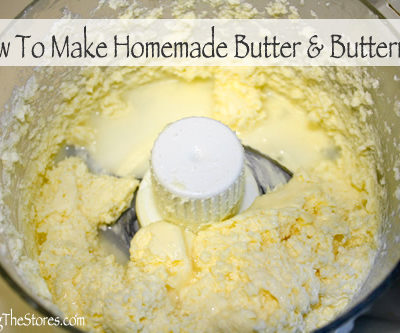 How To Make Homemade Butter & Buttermilk