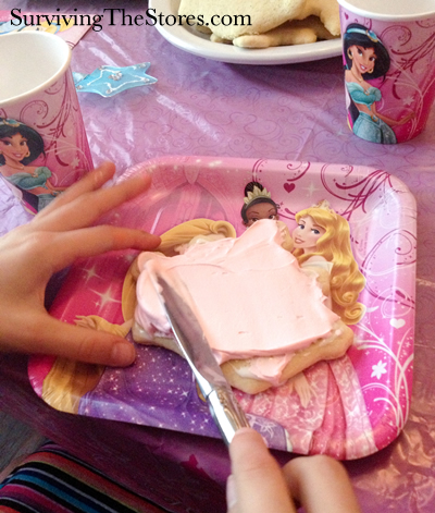 Princess Party Cookie Decorating