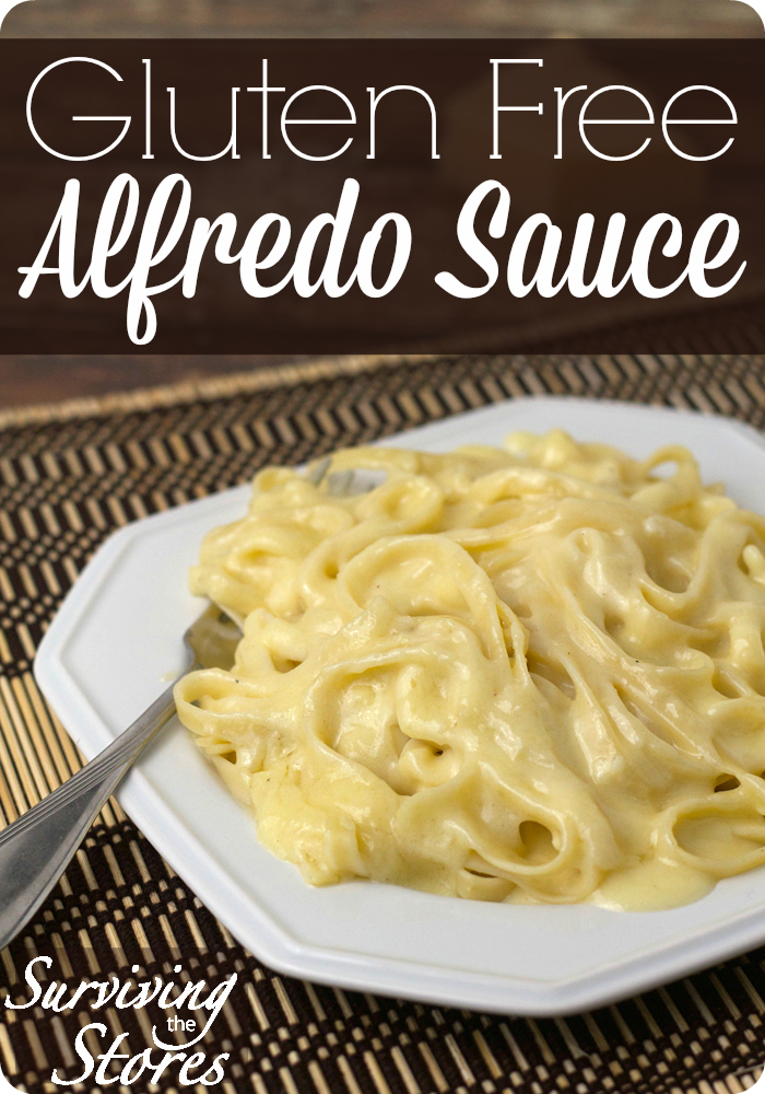 Gluten Free Alfredo Sauce! Easy to make with only 6 ingredients.
