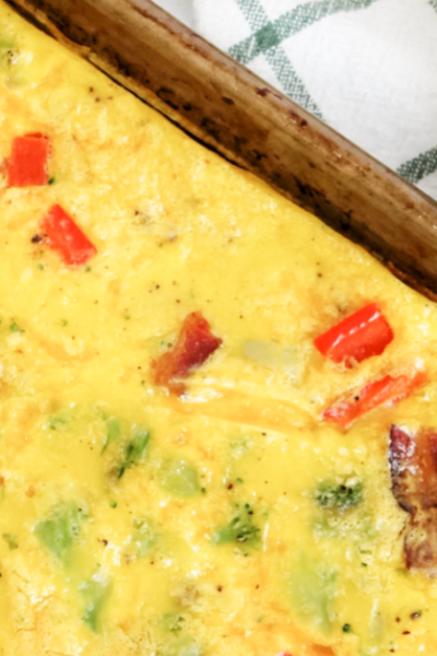 Easy Sheet Pan Omelets – KETO, Low-Carb, THM-S {Perfect For A Crowd!}
